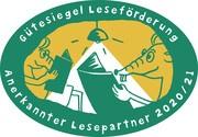 Gütesiegel 'Lesefreude Hessen - Anerkannter Lesepartner 2020/21'